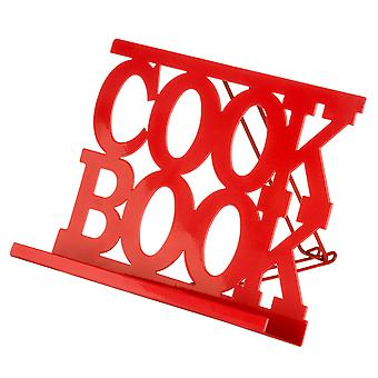 Red Enamel Cook Book Stand