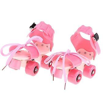 儿童滚轮滑板双排 4 轮滑鞋可调滑动
