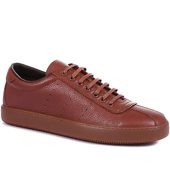 Jones Bootmaker Mens Stockwell Lace-Up Leather Trainers