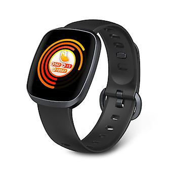 Smart Watch, Fitness Tracker Watch Touch Screen med blodtrykspuls søvnmåler i blodet Ring til SMS SNS Alert Music Control Vandtæt til Unisex kompatibel med Android IPhone-black1