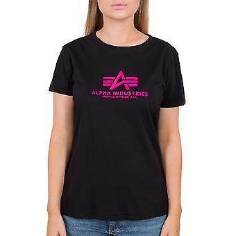 Alpha Industries Naisten t-paita Uusi Basic Neon Print