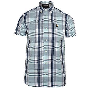 Lyle & scott men's deck blue checked shirt