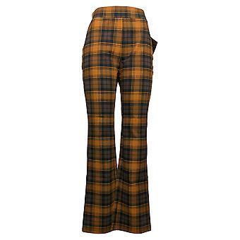 IMAN Global Chic Women's Pants 360 Slim Ponte Boot-Cut Brown 722609