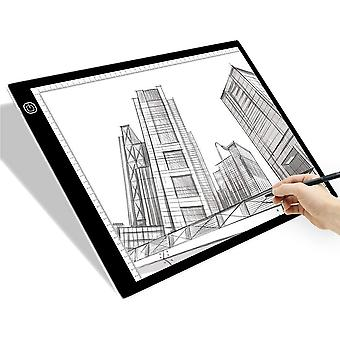 SAMTIAN A3 LED Light Box Ultra-Thin Portable Drawing Board LED Copy Board with USB Power Cable