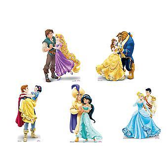 Disney Princess Official Mini Cardboard Cutouts - Set of 5