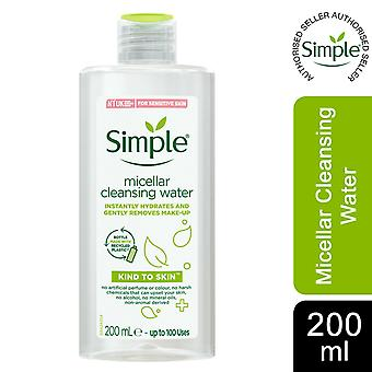 Simple Kind to Skin Micellar Cleansing Water for Gently Removes Make-up, 200ml