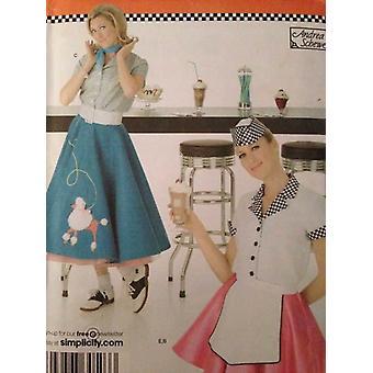 Yksinkertaisuus Ompelu kuvio 3847 Misses Naisten Villakoira Hame Paita Koko 6-12 Leikkaamaton