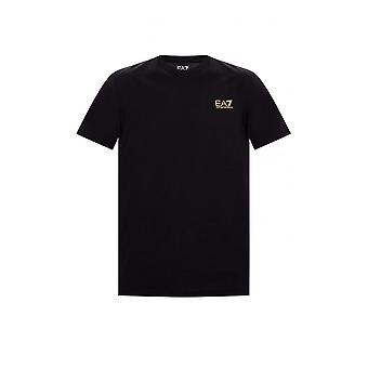 Emporio Armani EA7 Cotton Basic Black/gold T-shirt