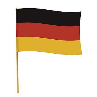 Drapeau Allemagne avec bâton 70 x 90 cm