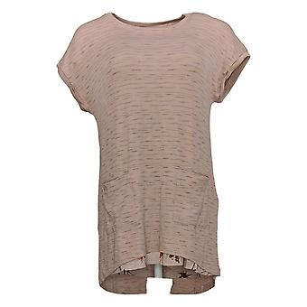 LOGOTIPO por Lori Goldstein Women's Top Space Dye Rib Tee & Tank Brown A299724