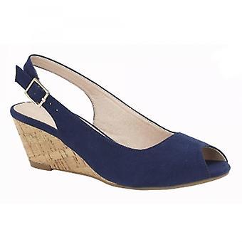 Cipriata Leana Ladies Wedge Heel Sandals Navy