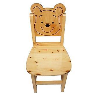 Silla de madera maciza de pino de muebles para niños