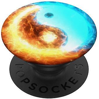 FengChun Yin Yang Feuer und Wasser Energie PopSockets PopGrip: Ausziehbarer Sockel und Griff fr