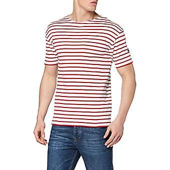 Armor Lux Doelan T-Shirt, Multicolored (Blanc/Braise 320), Medium (One Size: 3) Men's