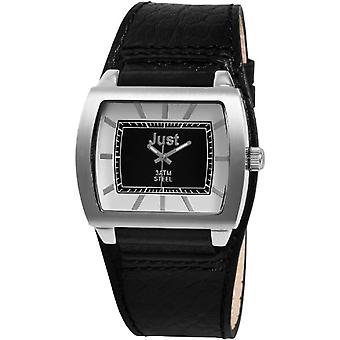 Just Watches sportly 48-S5228A-SL - Men's wristwatch, black leather strap