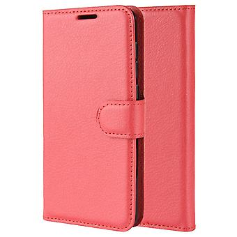 Pu leather magsafe case for samsung a20 red pc406
