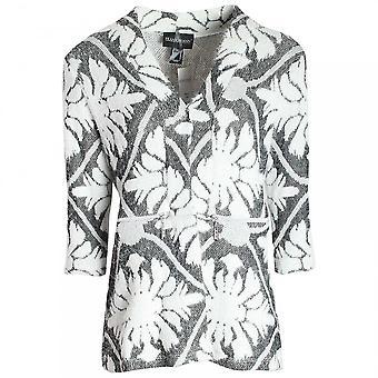 Frank Lyman Long Sleeve Floral Design Knit Cardgian