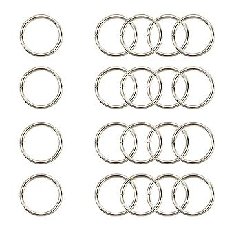 15mm Silver O Rings, Stainless Steel Jump Ring