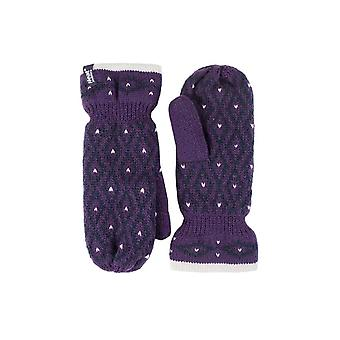 Ladies fleece lined insulated winter mittens