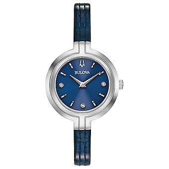 Bulova Rhapsody Diamond Leather Ladies Watch 96P212