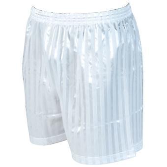 Tarkkuus raidallinen mannermainen jalkapallo shortsit 38-40 tuumaa valkoinen