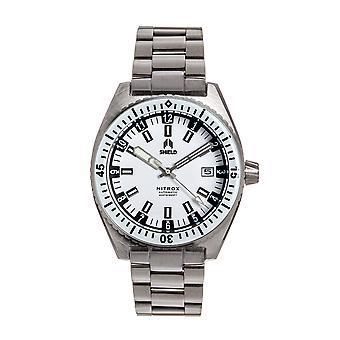 Shield Nitrox Bracelet Watch w/Date - White