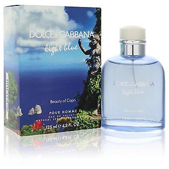 Hellblaue Schönheit von capri eau de toilette spray von dolce & gabbana 557192 125 ml