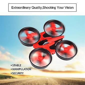 Red Mini Ufo Quadcopter Drone Led Lights Drones Headless Mode Quadcopter