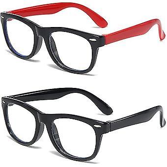 2 לארוז ילדים כחול משקפיים בנים בנות, Uv הגנה נגד משקפיים כחולים(GROUP1)