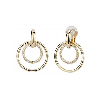 Traveller Clip Earring - Hanging - 22ct Gold Plated - Swarovski Crystals - 157105 - 700