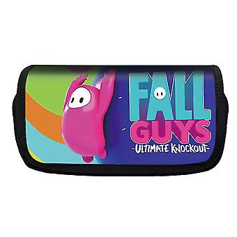 Jelly Bean Fall Guys Double Flap Pencil Case Polyester Enfant(Couleur-21)