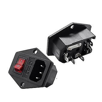 Stopcontacten stopcontacten 3 pin c14 inlaat connector stopcontact met lamp rocker schakelaar