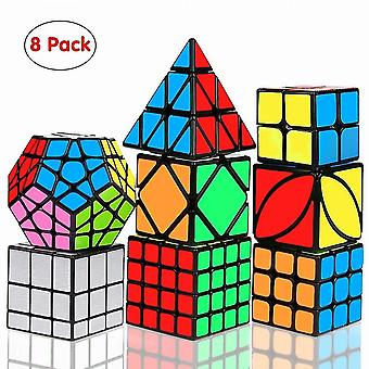 Speed Cube Set, Magic Cube Bundle 2x2 3x3 4x4 Pyramid - Toy Puzzles Cube For Kids And Adults Set Of