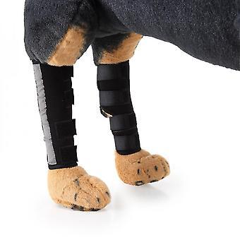 Evago met reflecterende strip-pair hond achterbeen brace hond achterste hock gewrichtssteun met veiligheid reflecterende riemen voor gewrichtsletsel en verstuiking Protectio