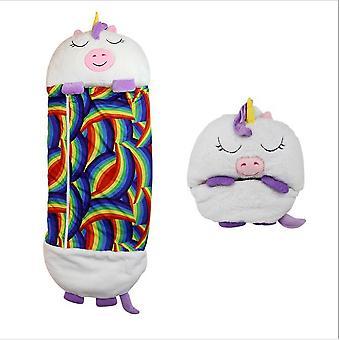 160CM*60CM Happy Nappers White Unicorn Kids Sleeping Bag