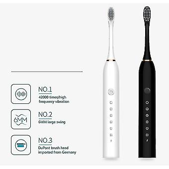 Household Soft Charging Automatic Electric Toothbrush For Adult(Black)