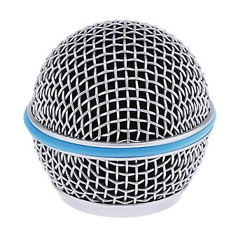 Blue Steel Mesh Microphone Grill Accessory