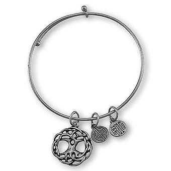 Celtic `Tree of Life` Silver Plated Expandable Charm Bracelet