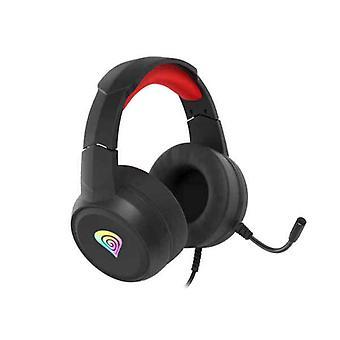 Auriculares Bluetooth con micrófono Genesis Neon 200 Negro Rojo