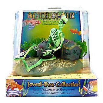 """Penn Plax Action Air Jewel Box med skelett - 3""""L x 4.5""""W x 3.25""""H"""