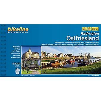 Ost-Friesland Radatlas Zwischen Oldenburg, Ems und Nordseekuste: BIKE.350