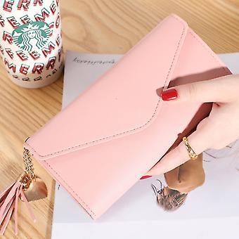 Neue Mode Frauen Geldbörsen Marke Brief Lange Drei-Falten-Brieftasche Geldbörse Frisches Leder Weibliche Clutch Kartenhalter Cartera Mujer