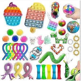 New Christmas Gift Box Pop Its Fidget Toys Antistress Popet Push Down Games Figet Toy Large Simpl For Kids
