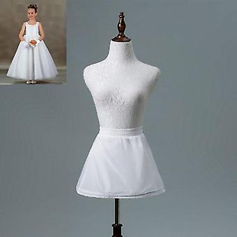 One Layer Bambini Crinoline Pizzo Trim Flower Dress Underskirt