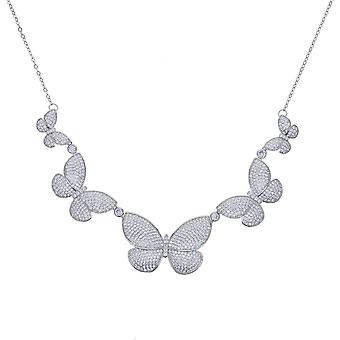 Luxury Delicate Animal Choker With 5A Cz Paved Butterfly Charm Pendant  Necklaces