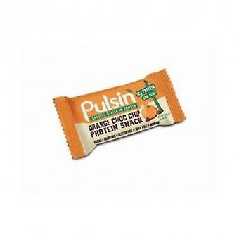 Pulsin - pomarańczowy Choc Chip białka przekąska 50 g X 18