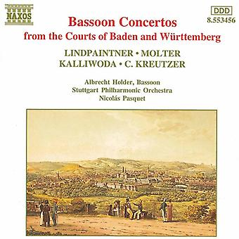 Lindpaintner/Molter/Kalliwoda / - Bassoon Concertos da tribunali di Baden e W Rttemberg [CD] USA import
