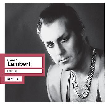 Georgio Lamberti - Recital [CD] USA import