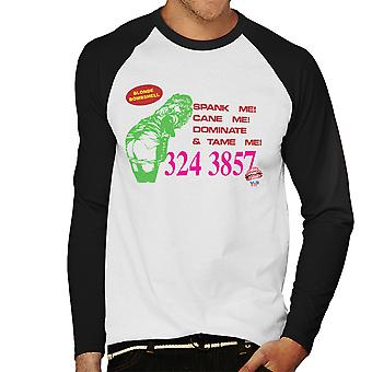Blonde Bombshell Call Card Men's Baseball Long Sleeved T-Shirt