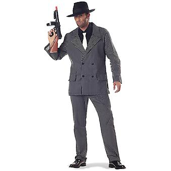 Gangster Mobster 1920s 30s 60s Mob Al Capone Mafia Chicago Mens Costume